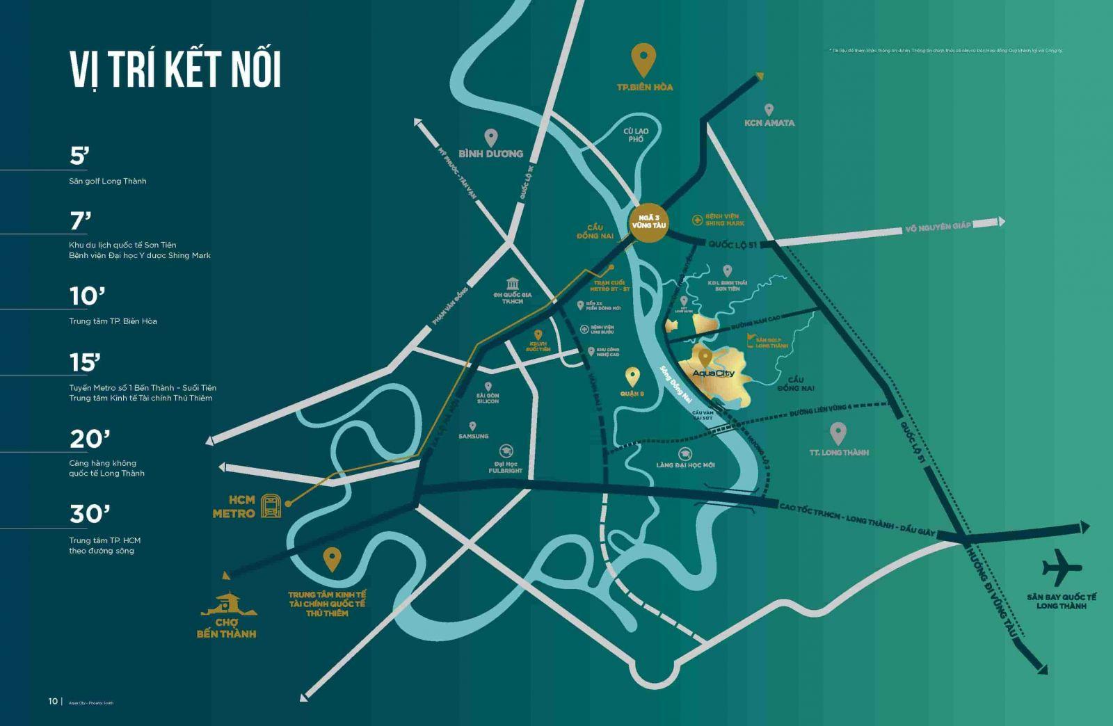 vị trí aqua city và swanbay