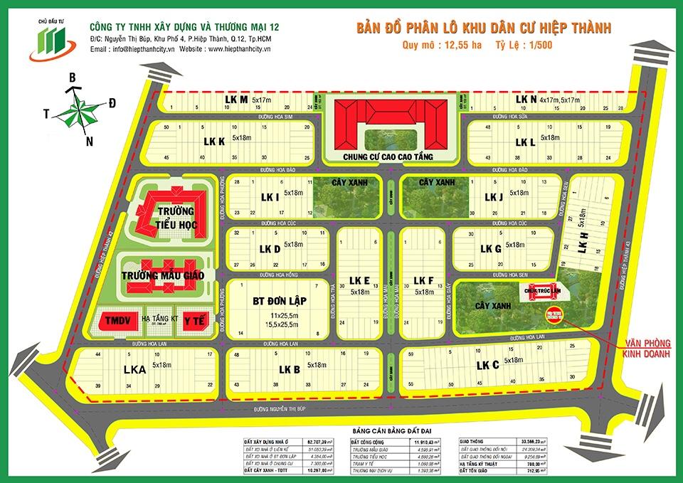 ban do Hiep Thanh, quyhoachduan, hiệp thành city